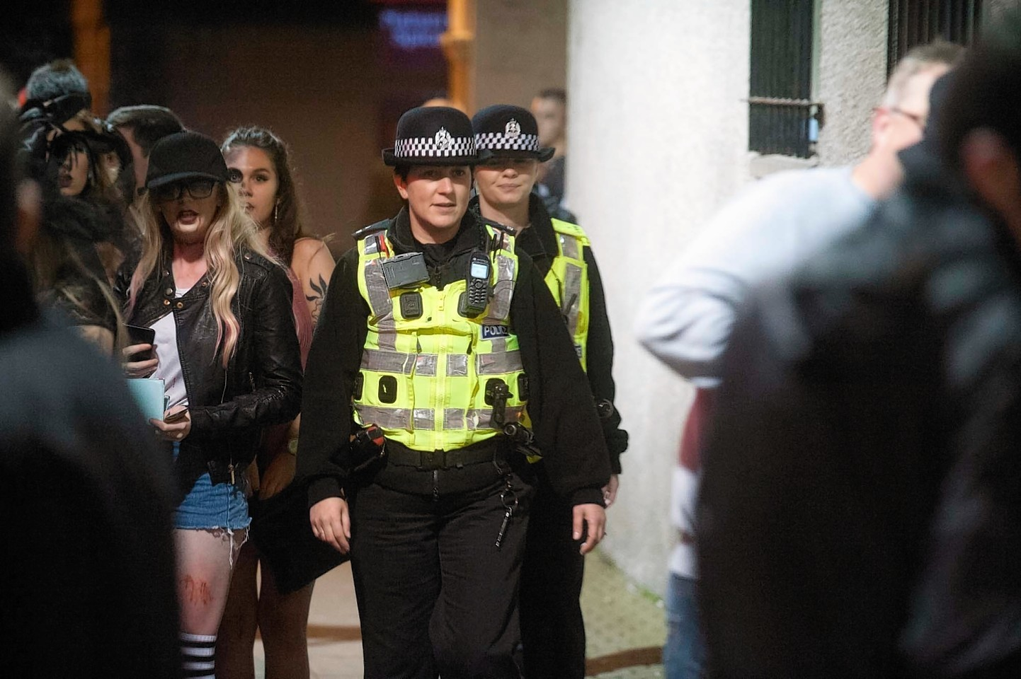 drink, drugs and halloween: police clampdown on scots revellers
