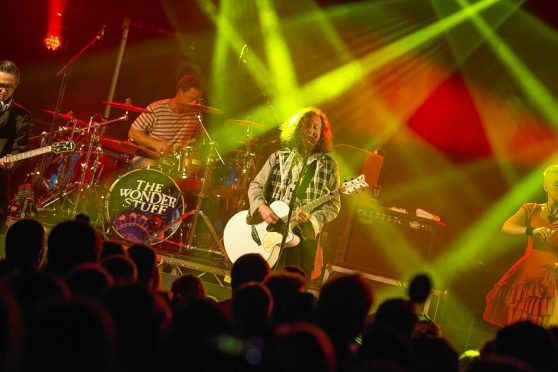 The Wonderstuff on stage at  Loopallu festival in Ullapool