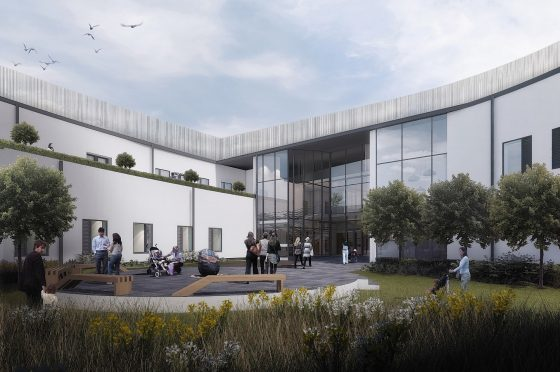 Artist impressions of plans for the new Orkney hospital