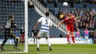 Aberdeen's Adam Rooney headed the opening goal in his side's win over Morton