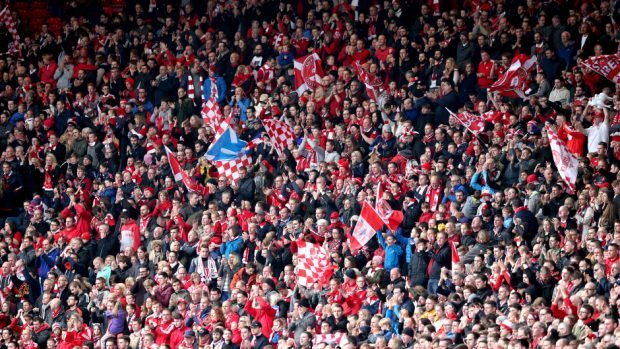 Aberdeen fans will be right behind the team in the Scottish Cup final.