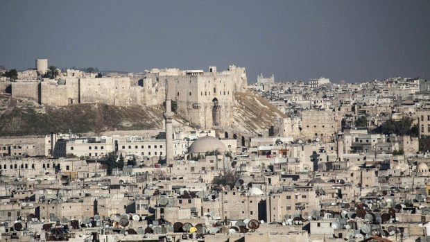A general view over Aleppo, Syria