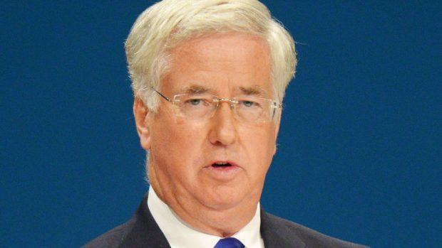 Defence Secretary Sir Michael Fallon