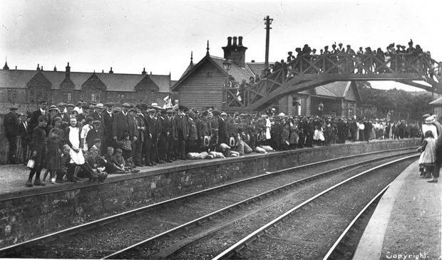 Portsoy Station in 1914