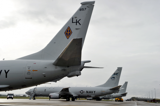 Poseidon P-8 aircraft are currently at RAF Lossiemouth as part of Operation Joint Warrior.