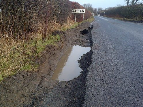 Caithness councillor Matthew Reiss's picture demonstrates the problems of many north routes.