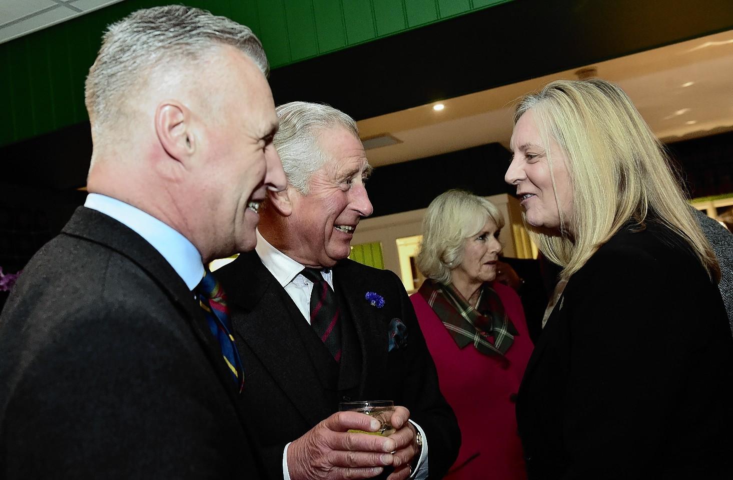 Prince Charles mingles with the crowd. Credit: Kami Thomson.