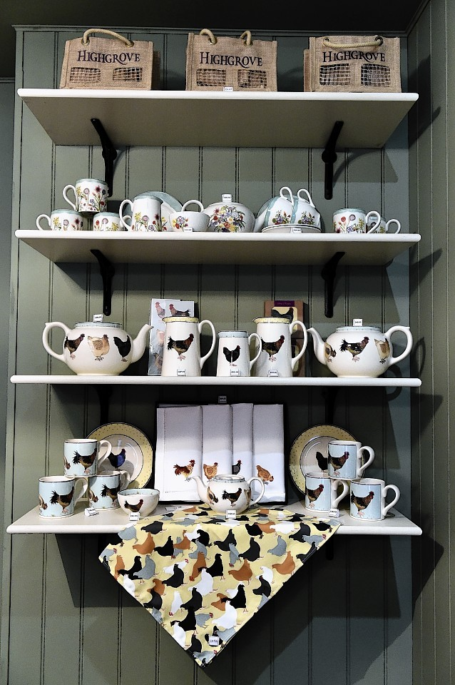 The Highgrove shop in the Rothesay Rooms in Ballater. Credit: Kami Thomson.