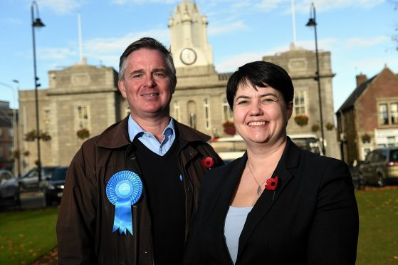 Ruth Davidson visited Inverurie to campaign ahead of the by-election.