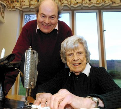 Valerie Hunter-Gordon with her son Nigel