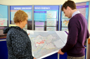 Residents were asked about their views about possible wind farm sites at the public exhibition at New Elgin Hall.