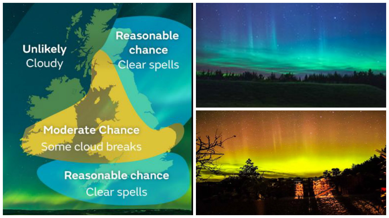 The northern lights put on an amazing show last night for Chance of seeing northern lights tonight