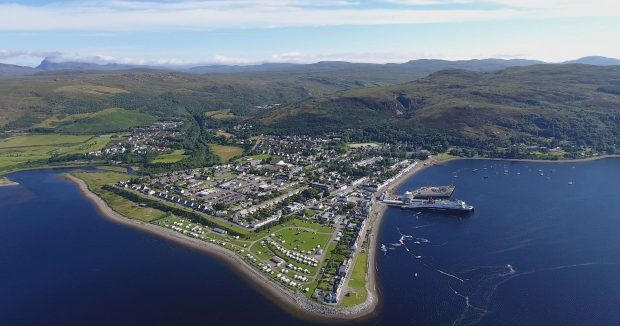 Aerial view of Ullapool. Photo credit: Marc Hilton, marchilton.com