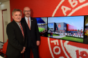Picture of (L-R) George Yule (Vice Chairman of AFC) and Ally Prockter (CEO at Aberdeen FC Community Trust). Picture by Kenny Elrick