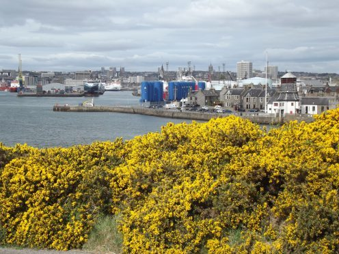 A view of Aberdeen harbour from South Road. Picture courtesy of reader Dennis Forbes Grattan