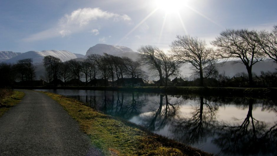 Ben Nevis on a sunny day, seen from the Caledonian Canal. Picture courtesy of reader Diane McCombie, Insch