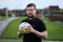 Fraserburgh captain and centre half Russell McBride will play his last game for the Broch against Fort William on Saturday after more than 20 years and nearly 600 games at Bellslea Park. Picture by KENNY ELRICK