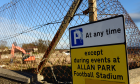 The demolition of Allan Park, Cove Rangers FC, old home ground. Picture by Kami Thomson