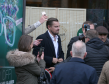 Leonardo DiCaprio arrives for a visit to Home by Social Bite sandwich shops in Edinburgh, which work to help the homeless  Jane Barlow/PA Wire