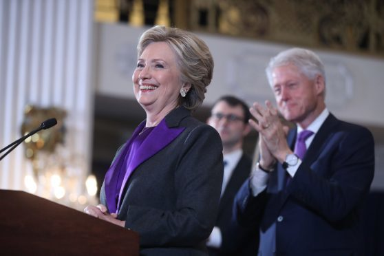 Democratic presidential candidate Hillary Clinton speaks in New York,