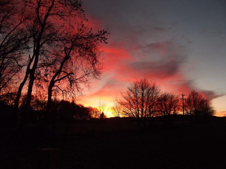 Sunset in Bucksburn by Dennis Forbes Grattan