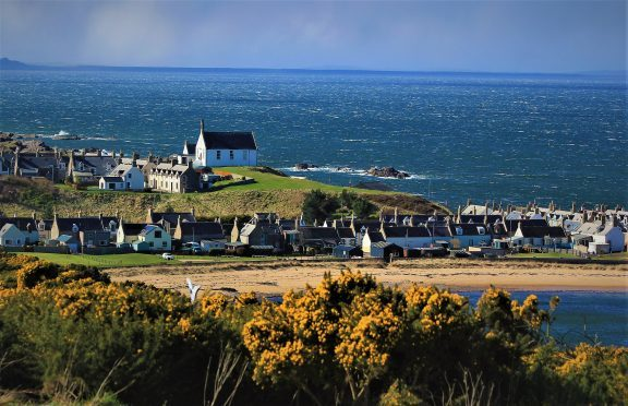 Findochty Church sitting on the headland with fresh gorse bloom in the foreground. Picture courtesy of reader Ali Bain, Garmouth
