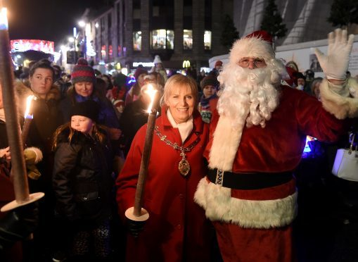 The Christmas Parade including the switching on of the Inverness Christmas Lights took place through the centre of Inverness last night