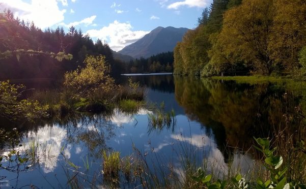Autumn at Glencoe Lochan. Photograph: John Dougan, Fort William