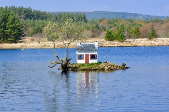 Wee house in Little Loch Shin, Lairg. Picture courtesy of reader Hazel Thomson, Elgin