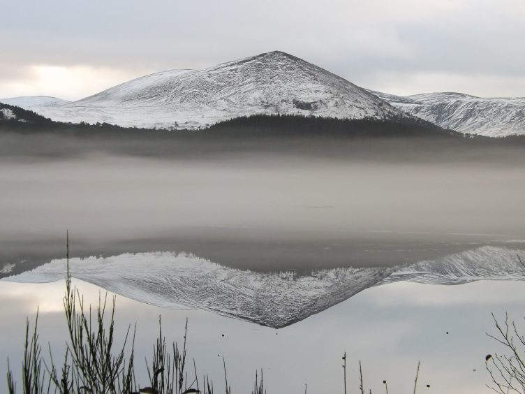 Loch Morlich in the frozen Cairngorms. Photograph: Craig Maclean, of Inverness