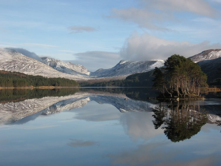 Reflections on Loch Ossian. Photograph: Reader Ron Bowie