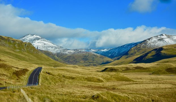 The Lumpy Bumpy road to The Spitall of Glenshee. Picture courtesy of Reader Hazel Thomson, Elgin