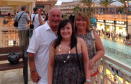 Marlene Duncan [R] with husband Michael [L] and daughter Megan [C]