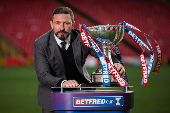 Derek McInnes hopes to lift the League Cup for a second time