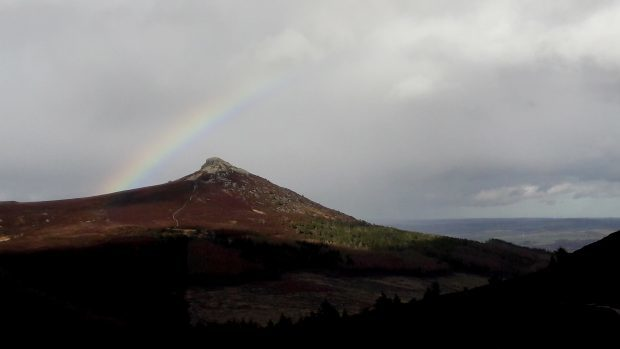 A rainbow over Mither Tap, photographed from Millstone hill. Picture courtesy of reader Russell Quinlan, Fyvie
