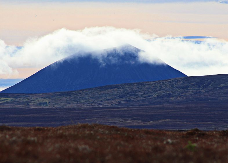 Morven in Caithness, shrouded in cloud. Picture courtesy ofreader Colin Stewart, Wick