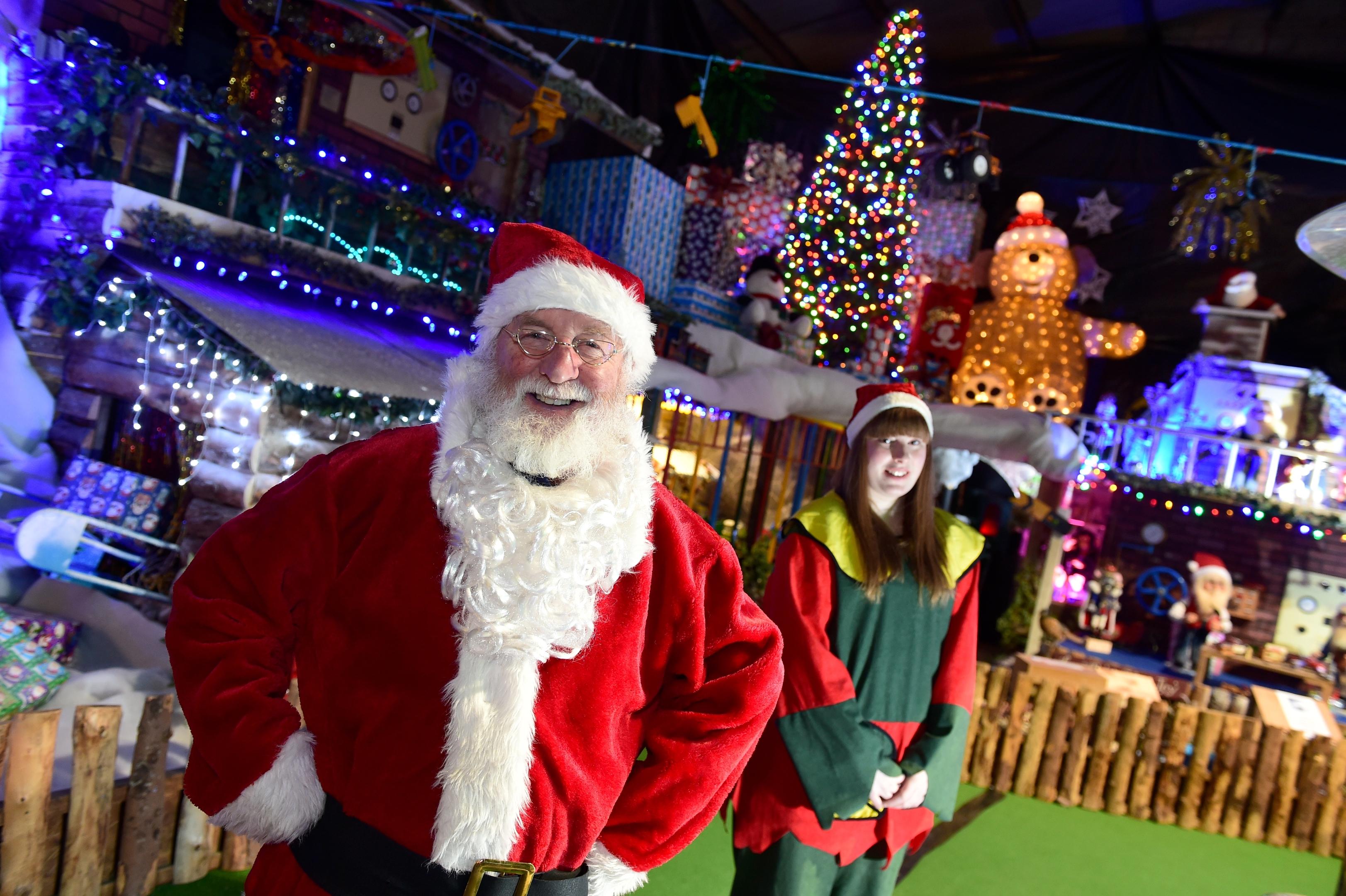 Santa visited BA Stores, Broomhill Farm, Lyne of Skene, Aberdeenshir