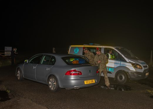 After news spread that a soldier had been killed, Army officers arrived at the scene