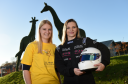 Left to right: Clare Bush, head of fundraising at ARCHIE, and racing driver Hannah Chapman
