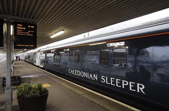 The Caledonian Sleeper at Fort William Station.