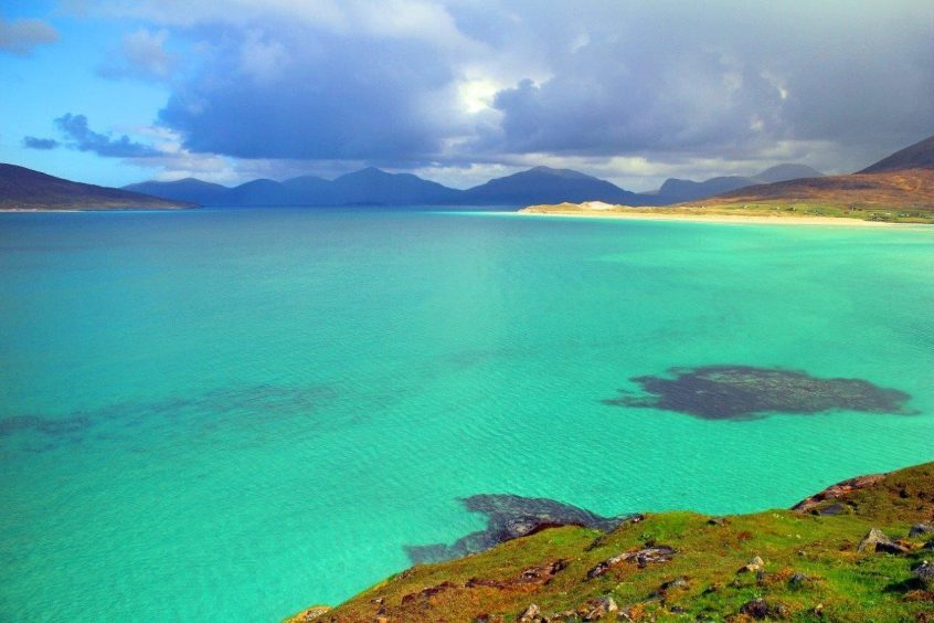 Harris displays its best sea colours. Picture courtesy of reader Morris Macleod
