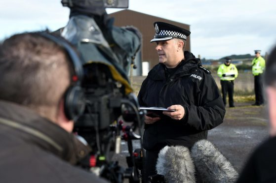 Area Commander Iain MacLelland of Police Scotland gave a press conference outside the site