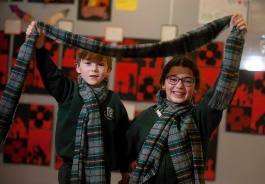 Moray Youngsters Create Their Own Tartan Press And Journal