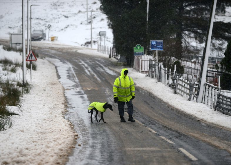 Heavy snow and freezing conditions in the village of Wanlockhead, Dumfries and Galloway, with adverse weather affecting much of the UK,