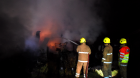 Firefighters tackle a blaze at a shed near Forgue (pics by Kevin Emslie)