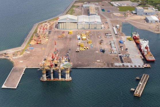 Global Energy Group's Nigg Energy Park, on the Cromarty Firth.