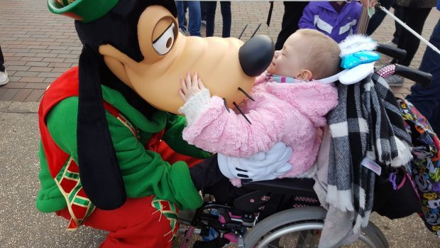 Eileidh hugged all of her favourite characters during her three-day visit to Disneyland.