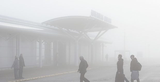 Freezing fog caused major disruption at Inverness Airport