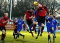 Inverurie Locos v Lossiemouth FC at Harlaw Park, Inverurie.