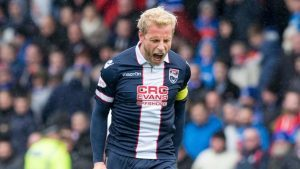 Ross County defender Andrew Davies.